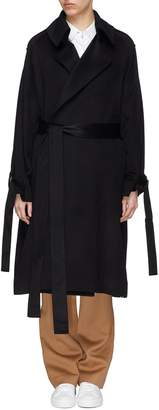 J.Cricket 'Trapez' sash cuff epaulette belted cashmere trench coat