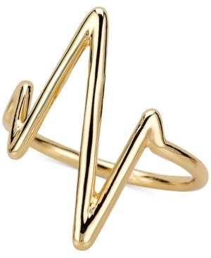 Sarah Chloe Heartbeat Ring in Sterling Silver or 14K Gold-Plated Sterling Silver