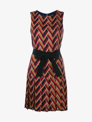 Gucci chevron pleated dress
