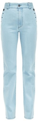 See by Chloe Buttoned Flared High Rise Jeans - Womens - Denim