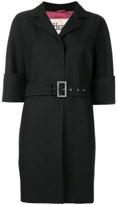 Herno belted short-sleeve coat