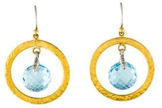 Gurhan Blue Topaz Drop Earrings