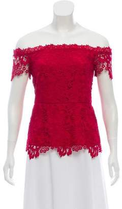 Rachel Zoe Lace Short Sleeve Top