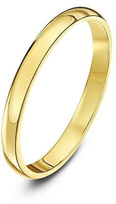 Theia Unisex Super Heavy D Shape Polished 18 ct Gold Wedding Ring, Yellow gold, V (Measure 25)