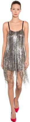 Amen Fringe Sequined Mini Dress