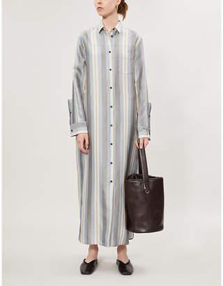 Jil Sander Lance striped twill maxi dress