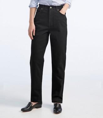 L.L. Bean L.L.Bean Women's Double LA Jeans, Relaxed Fit Comfort Waist