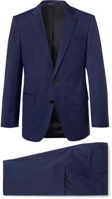 HUGO BOSS Navy Huge/Genius Slim-Fit Super 120s Virgin Wool Suit