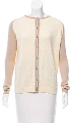Reed Krakoff Rib-Knit Long Sleeve Cardigan