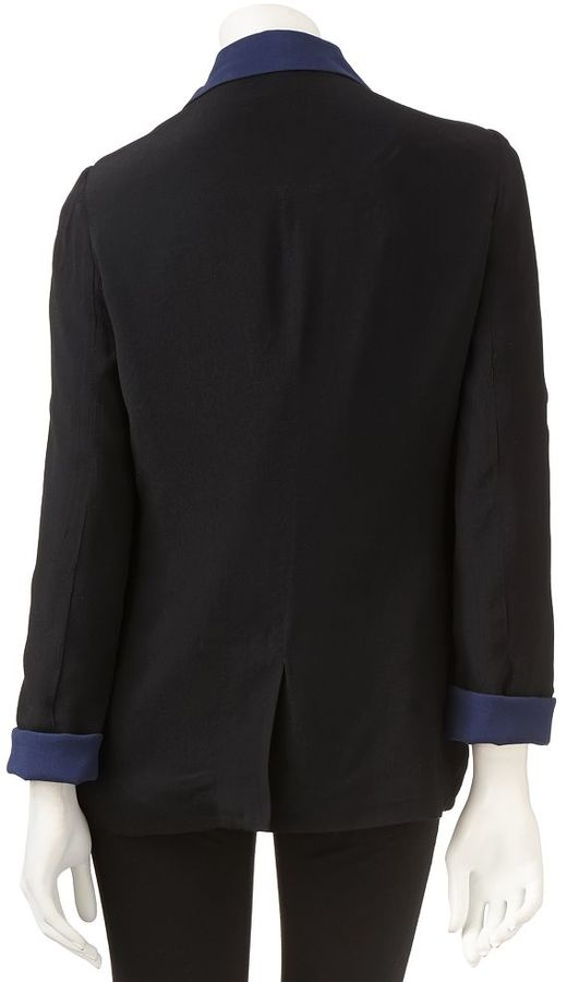 Lauren Conrad open-front crepe blazer - women's