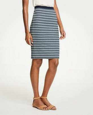 Ann Taylor Striped Knit Pencil Skirt