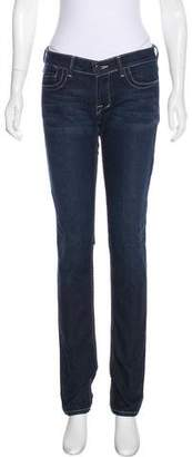 William Rast Low-Rise Straight-Leg Jeans