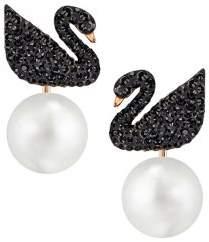 Swarovski Iconic Swan 18K Rose Goldplated Ear Jackets