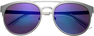 Breed Mensa Silvertone Titanium Sunglasses w/ P olarized Lense