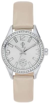 JLO by Jennifer Lopez Women's Marilyn Crystal Leather Watch