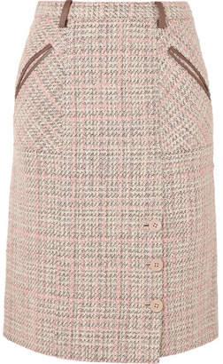 Agnona Checked Tweed Skirt - Sand
