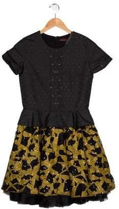 Catimini Girls' Embellished A-Line Dress w/ Tags