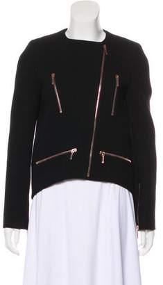 Cédric Charlier Wool Zip-Up Jacket