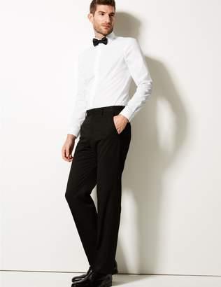 Marks and Spencer Cotton Blend Modern Slim Fit Dinner Shirt