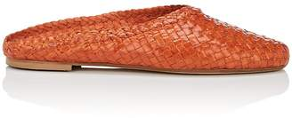 Barneys New York Women's Basket-Weave Leather Mules