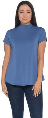 Halston H By H by Essentials Mock Neck Extended Shoulder Top