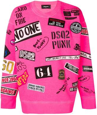 DSQUARED2 logo stamped sweatshirt