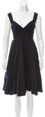 Burberry Sleeveless Belted Dress