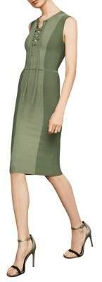BCBGMAXAZRIA Sleeveless Safari BodyCon Dress