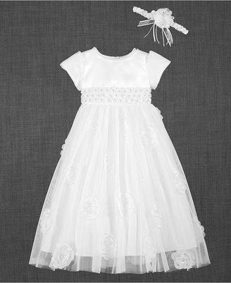 Lauren Madison 2-Pc. Headband & Christening Dress Set, Baby Girls (0-24 months) $82 thestylecure.com