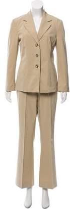 Prada Beige Three-Button Pantsuit