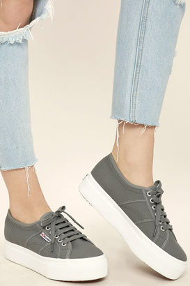 Superga 2790 ACOTW Grey Sage Platform Sneakers $80 thestylecure.com