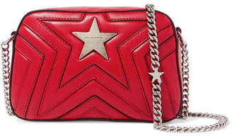 Stella McCartney Star Quilted Faux Leather Shoulder Bag - Red