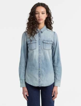 Calvin Klein denim snap shirt