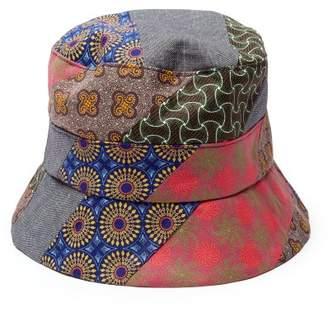 Albertus Swanepoel Patchwork Print Cotton Bucket Hat - Mens - Multi