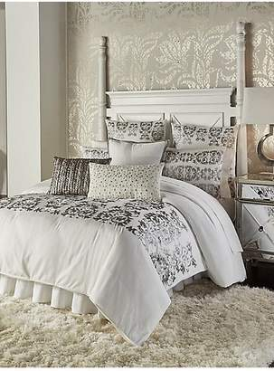 Callisto Home Vivara Metallic Embroidered Cotton Duvet Cover