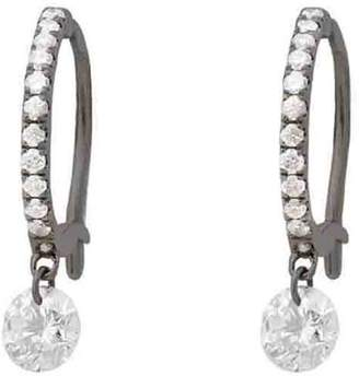 Raphaele Canot Set Free Diamond Mini Hoop Earrings - Blackened Gold
