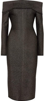 Roland Mouret Hudson Stretch-knit Midi Dress - Black