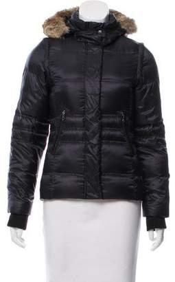 Comptoir des Cotonniers Fur-Trimmed Down Coat