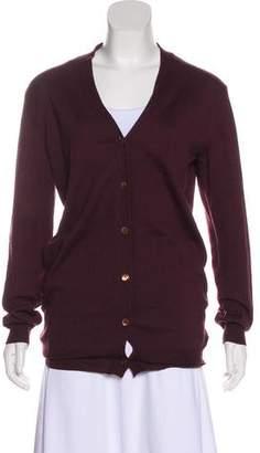Miu Miu Wool Long Sleeve Cardigan