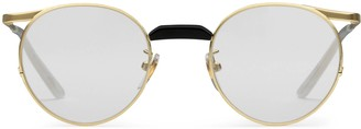 Gucci Round-frame metal glasses