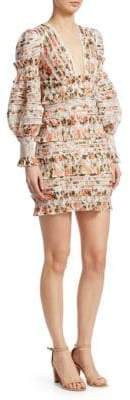 Zimmermann Smocked Floral Mini Dress