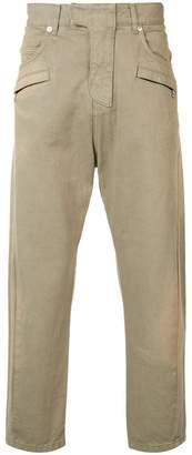 Balmain biker fly baggy trousers