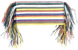 Ports 1961 striped fringe clutch bag
