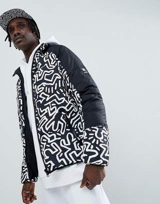 Element x Keith Haring reversible puffer jacket in black