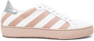 OFF-WHITE Classic Diagonals Leather Sneakers $559 thestylecure.com
