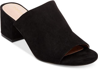 Madden Girl Lorna Block-Heel Slides Women's Shoes $49 thestylecure.com