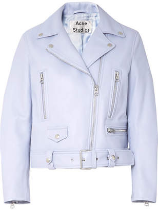 Acne Studios Leather Biker Jacket - Lilac