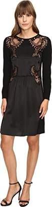 Alberta Ferretti Women's 3/4 Sleeve Satin Dress