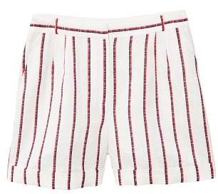 MANGO Striped linen shorts
