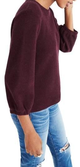 Women's Madewell Shirred Sleeve Sweater